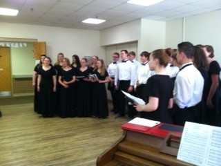 Chamber singers perform