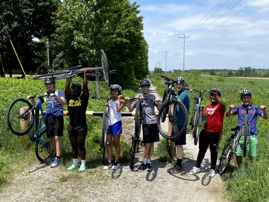 ROPE participants about to start their bike trek